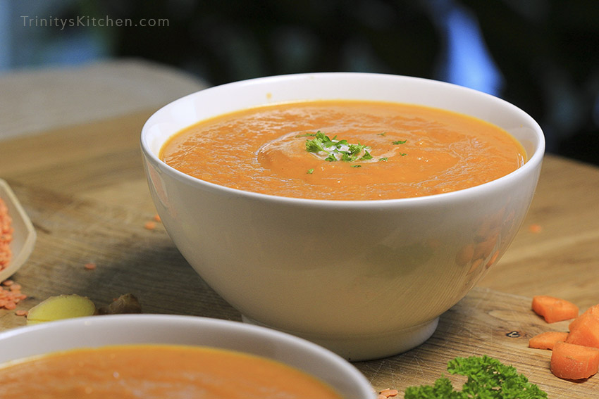 & ginger wellness soup by Trinity
