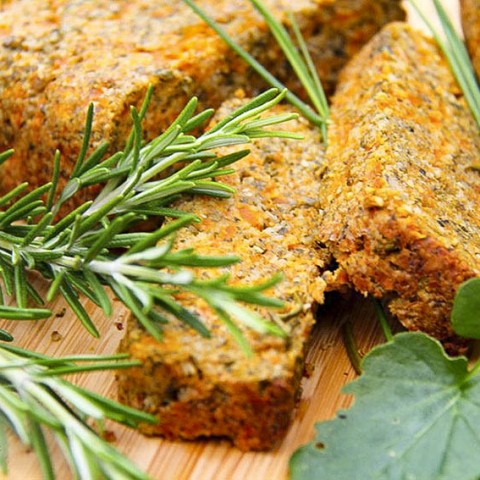 Easy Seed & Carrot Roast loaf - delicious, gluten-free, vegan by Anastasia, Kind Earth
