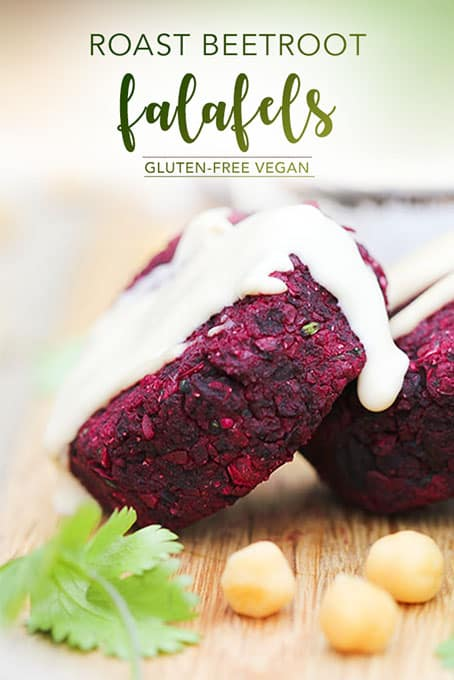 Roast Beetroot Falafels - easy gluten-free vegan deliciousness by Anastasia, Kind Earth