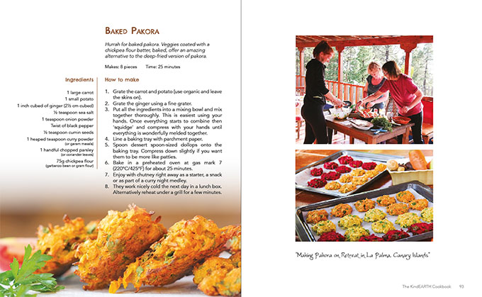 Baked Pakora 2 in Kind Earth Cookbook