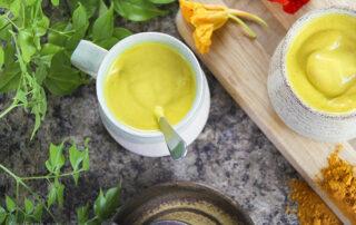 Creamy Golden Vegan Latte - turmeric & ginger hug in a mug recipe